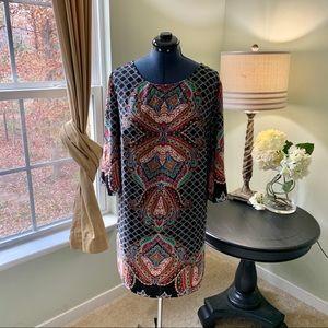 BeBop Black Multicolored Dress Size 2X